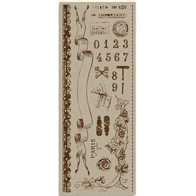 Bo Bunny Press - Bella Journee - Rub-Ons - Passport Brown, CLEARANCE