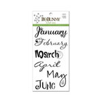 BoBunny - Rub Ons - 12 Month Calendar