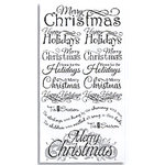 Bo Bunny Press - Christmas Collection - Rub Ons - Christmas Greetings , CLEARANCE