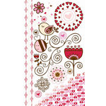 Bo Bunny Press - Crazy Love Collection - Valentine - Rub Ons - Crazy Love