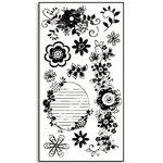 Bo Bunny Press - Rub-Ons - Flora - Swirl, CLEARANCE