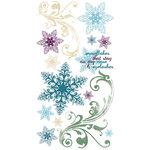 Bo Bunny Press - Snowy Serenade Collection - Rub Ons - Flurries, CLEARANCE