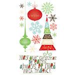 Bo Bunny Press - Tis The Season Collection - Christmas - Rub Ons - Holiday Dream