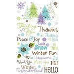 Bo Bunny Press - Winter Joy Collection - Christmas - Rub Ons - Winter Joy
