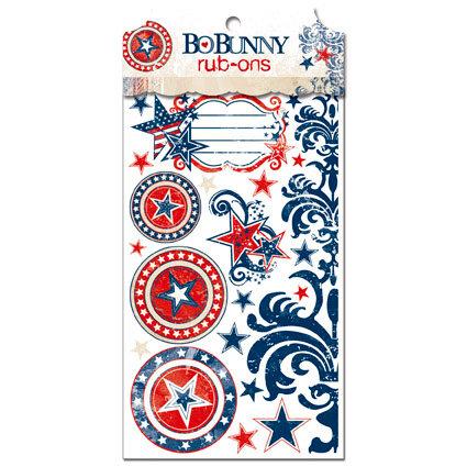 Bo Bunny Press - Liberty Collection - Rub Ons