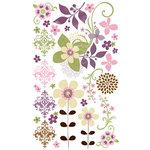 Bo Bunny Press - Jazmyne Collection - Rub Ons - Lavender Garden, BRAND NEW