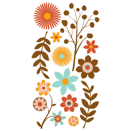 Bo Bunny Press - Kitchen Spice Collection - Rub Ons - Hazelnut, CLEARANCE