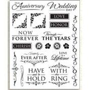 Bo Bunny Press - Rub Ons - Romance Rub On - Wedding Anniversary Love