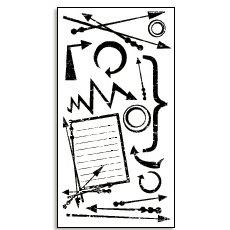 Bo Bunny Press - Rub-Ons - Spastic - Arrow - Journal - Teen - Boy, CLEARANCE