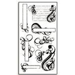 Bo Bunny Press - Rub-Ons - Swirly - Swirl - Journal - Title, CLEARANCE