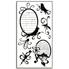 Bo Bunny Press - Rub-Ons - Tweet Tweet - Bird - Swirl - Kournal, CLEARANCE