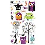 Bo Bunny Press - Whoo-ligans Collection - Halloween - Rub Ons - Whoo-ligans
