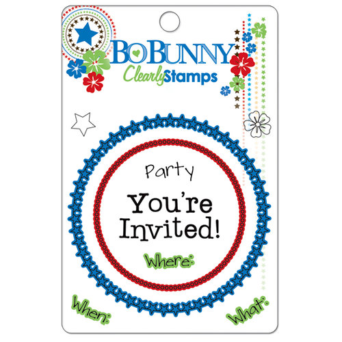 Bo Bunny Press - Block Party Collection - Clear Acrylic Stamps - Block Party