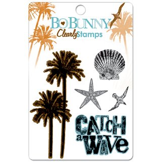 Bo Bunny Press - Paradise Collection - Clear Acrylic Stamps - Paradise