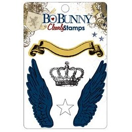 Bo Bunny Press - Cambridge Collection - Clear Acrylic Stamps - Cambridge