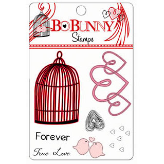 Bo Bunny Press - Crush Collection - Valentine - Clear Acrylic Stamps - Crush