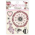 Bo Bunny Press - Crazy Love Collection - Valentine - Clear Acrylic Stamps - Crazy Love