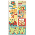 Bo Bunny Press - Organic Collection - Cardstock Stickers - Summer Fun - Beach