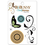 Bo Bunny Press - Flutter Butter Collection - Clear Acrylic Stamps - Harmony