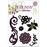 Bo Bunny Press - Jazmyne Collection - Clear Acrylic Stamps - Jazmyne