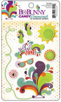 Bo Bunny Press - Sun Kissed Collection -  I Candy 3 Dimensionals - Cardstock Stickers with Glitter and Jewel Accents