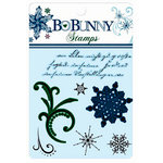Bo Bunny Press - Midnight Frost Collection - Christmas - Clear Acrylic Stamps - Midnight Frost