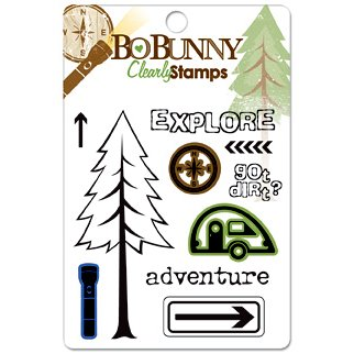Bo Bunny Press - Roughin' It Collection - Clear Acrylic Stamps - Roughin' It