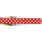 Bo Bunny Press - Double Dot - Ribbon - Three Eighths Inch - Wild Berry , CLEARANCE