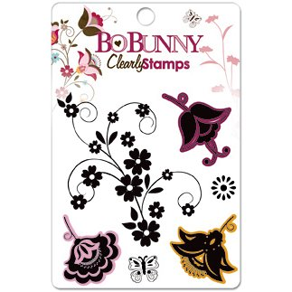 Bo Bunny Press - Sophie Collection - Clear Acrylic Stamps - Sophie, BRAND NEW - click to enlarge