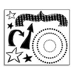 Bo Bunny Press - Star Struck Collection - Stamp and Store Acrylic Stamp - Elements, CLEARANCE
