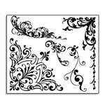 Bo Bunny Press - Ella Collection - Stamp and Store Acrylic Stamp - Flourish, CLEARANCE