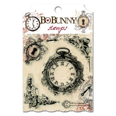 Bo Bunny Press - Timepiece Collection - Clear Acrylic Stamp