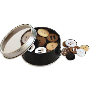 Bo Bunny Press - All Stuck Up - Magnetic Storage Container - Buttons - Licorice, CLEARANCE