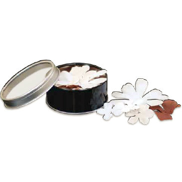 Bo Bunny Press - All Stuck Up - Magnetic Storage Container - Flowers - Licorice, CLEARANCE
