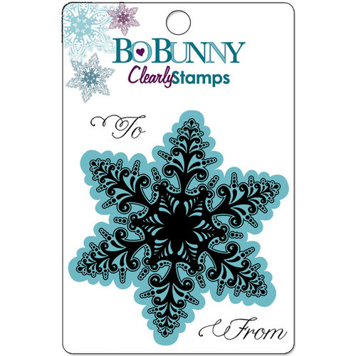 Bo Bunny Press - Snowy Serenade Collection - Clear Acrylic Stamps - Winter Lace