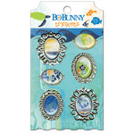 Bo Bunny Press - Barefoot and Bliss Collection - Metal Embellishments - Trinkets