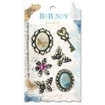 Bo Bunny Press - Country Garden Collection - Metal Embellishments - Trinkets