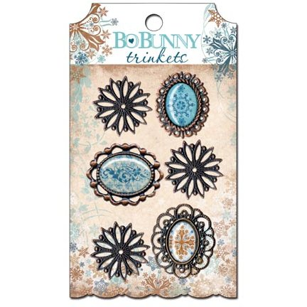 Bo Bunny Press - Snowfall Collection - Metal Embellishments - Trinkets