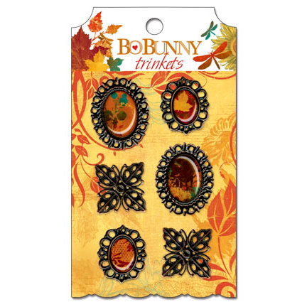 Bo Bunny - Forever Fall Collection - Metal Embellishments - Trinkets
