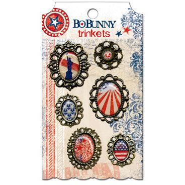 Bo Bunny - Liberty Collection - Metal Embellishments - Trinkets
