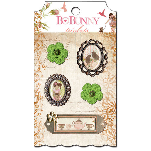 Bo Bunny - Little Miss Collection - Metal Embellishments - Trinkets