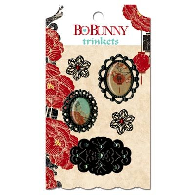 Bo Bunny - Serenity Collection - Metal Embellishments - Trinkets
