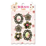 Bo Bunny Press - Vicki B Collection - Metal Embellishments - Trinkets, BRAND NEW