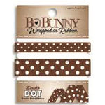 Bo Bunny Press - Double Dot - Wrapped In Ribbon - Chocolate