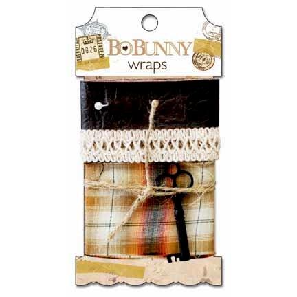 Bo Bunny Press - Et Cetera Collection - Ribbon Wraps - Et Cetera