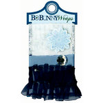 Bo Bunny Press - Midnight Frost Collection - Christmas - Ribbon Wraps - Frost, BRAND NEW