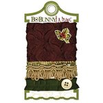 Bo Bunny - Noel Collection - Christmas - Ribbon Wraps - Holly Berry