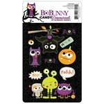 Bo Bunny Press - Whoo-ligans Collection - Halloween - I Candy 3 Dimensionals - Cardstock Stickers with Glitter Accents, CLEARANCE