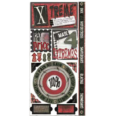 Bo Bunny Press - Xtreme Teen Collection - Cardstock Stickers - Xtreme- Teen - Boy