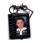 Braggables - Wet Croco Collection - Photo Card Case and Key Ring - Black